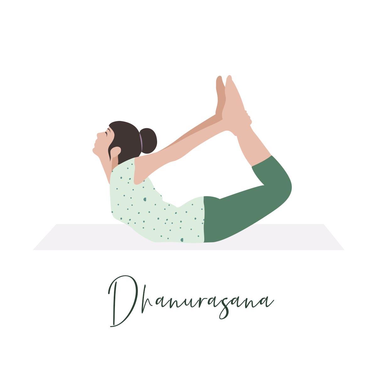 Dhanurasana illustration