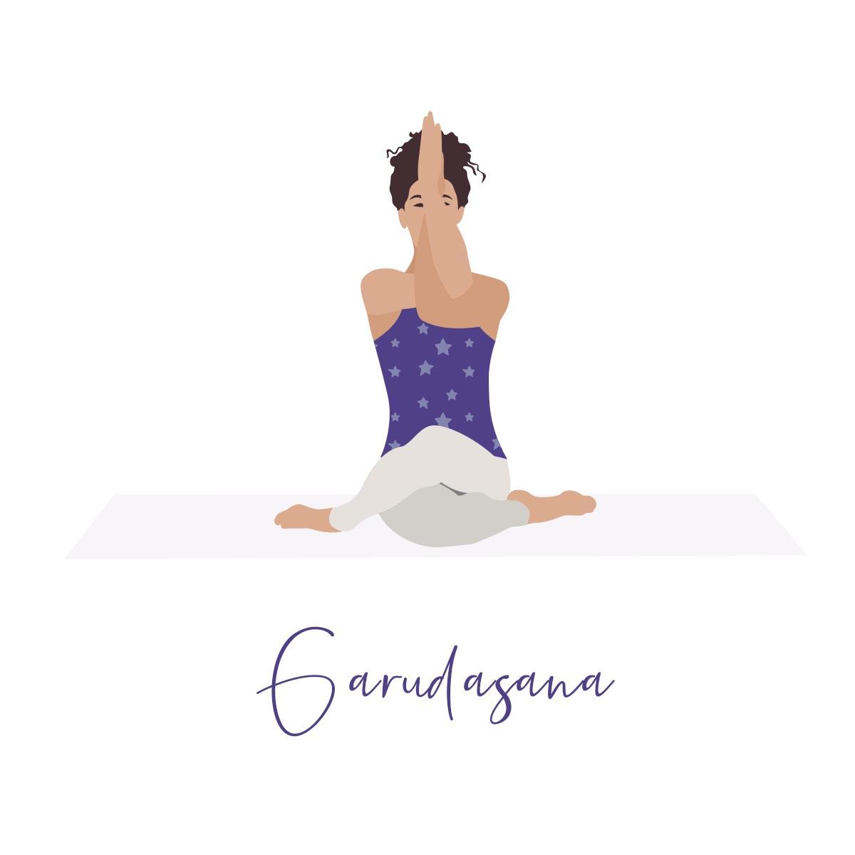 Garudasana Illustration