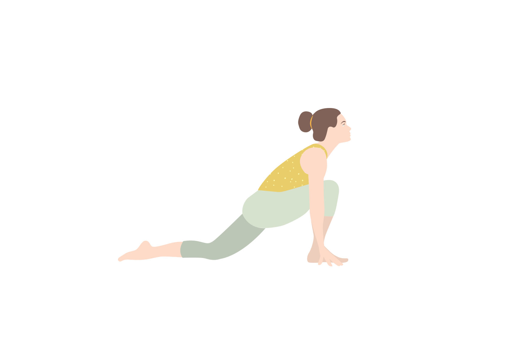 Illustrations Sun Salutation yoga