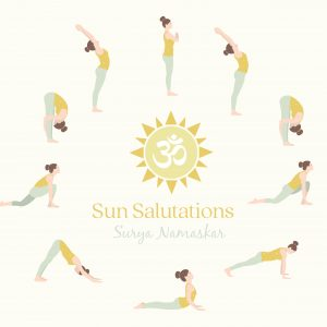 Illustrations Sun Salutation yoga