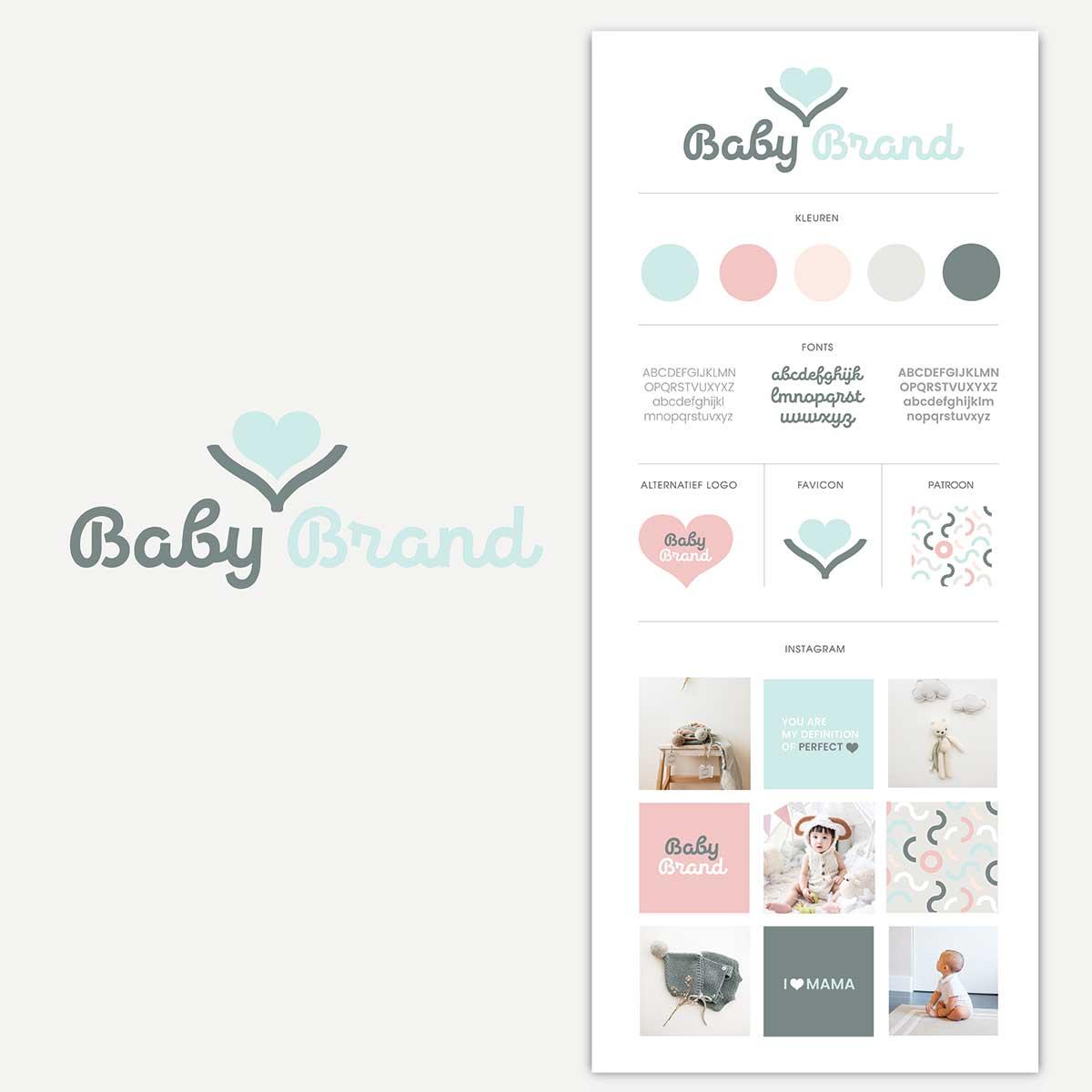 Huisstijl Babymerk Baby Brand