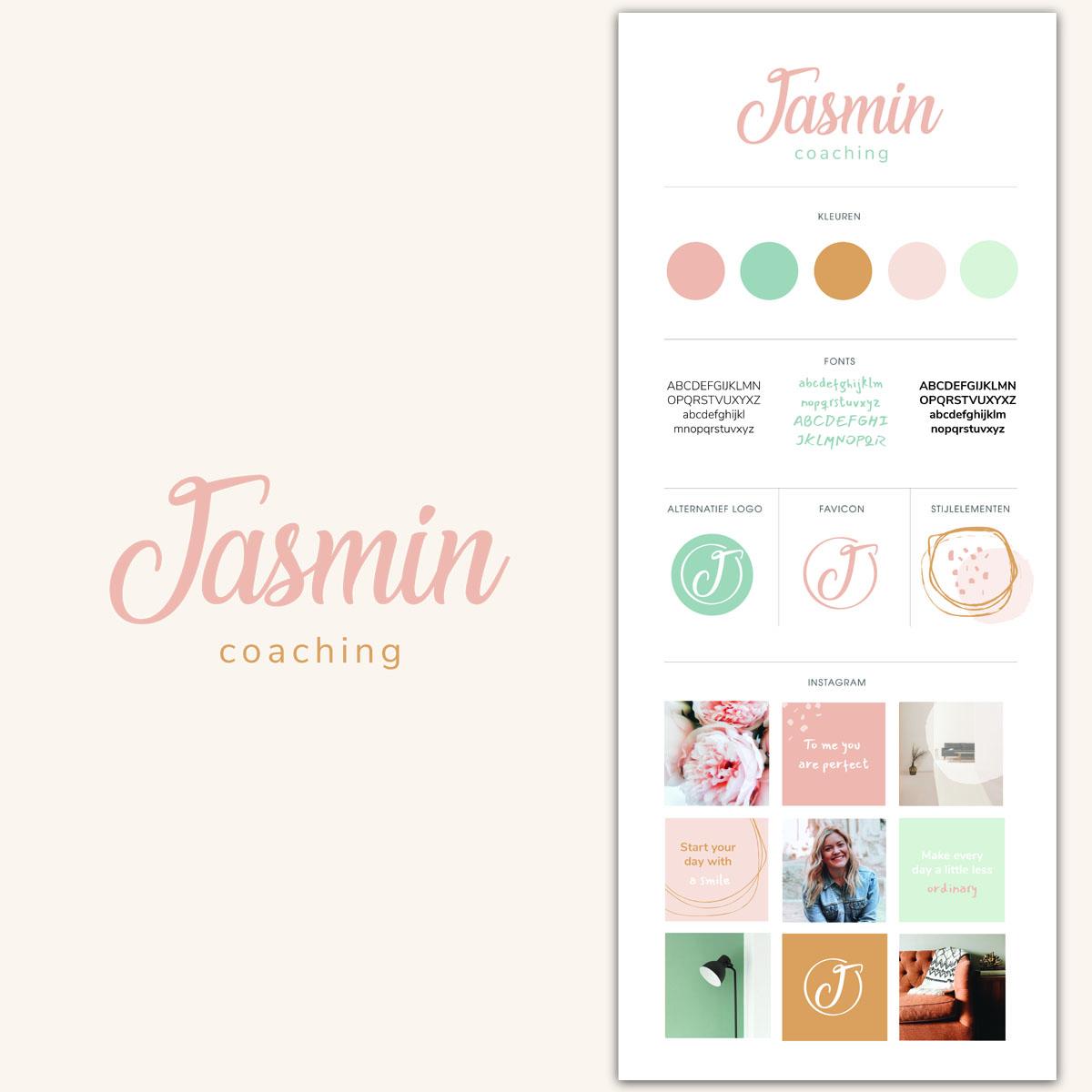 Huisstijl-ontwerp-vrouwelijke ondernemer Jasmin